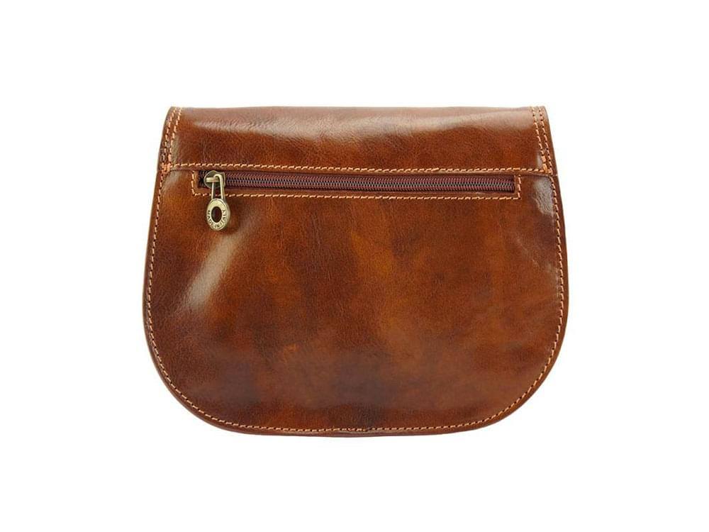 Deruta - supple and lightweight leather bag - back view