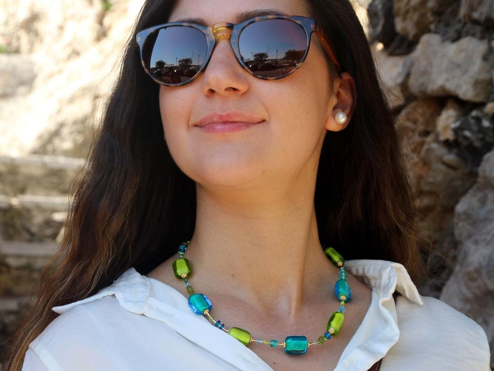 Acquerello Set - the necklace on our model