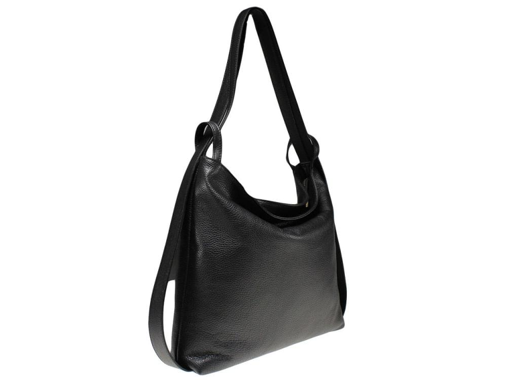 Burano - versatile leather bag in many colours - side view