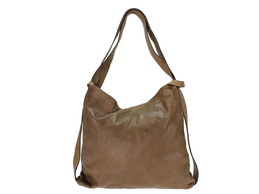 Positano - large, versatile, vintage leather bag