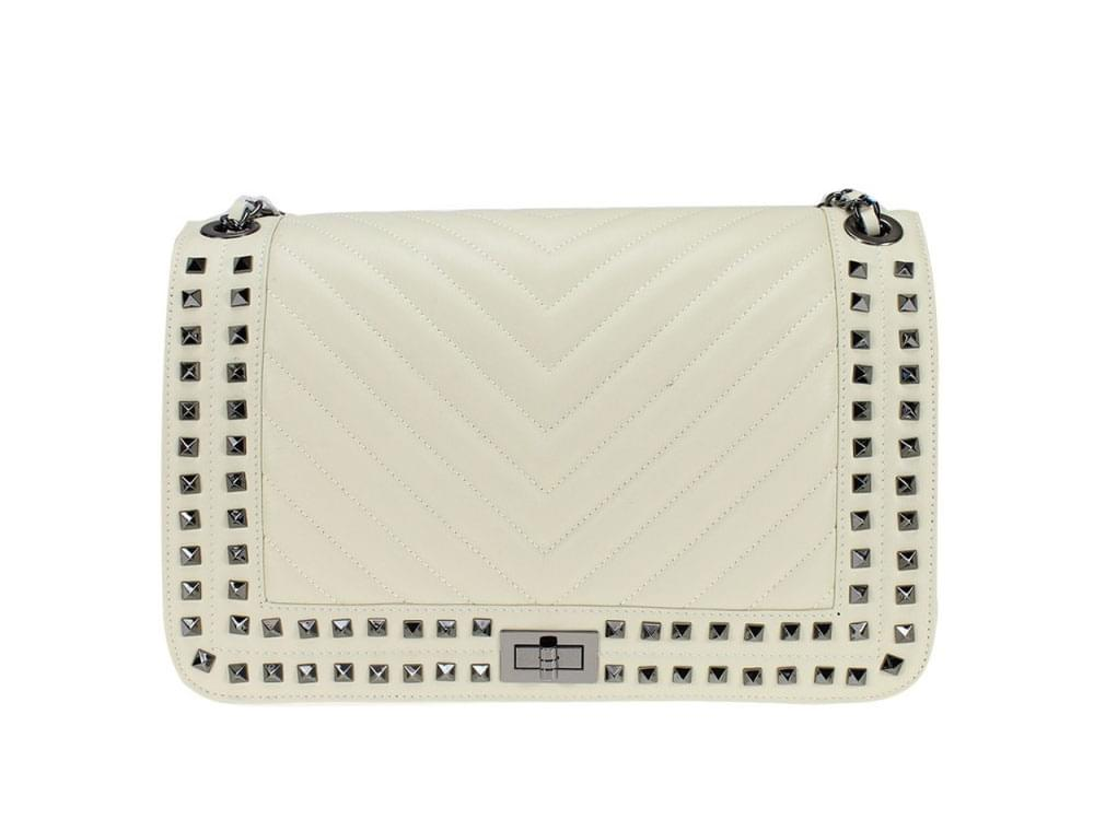 Pavia - quilted leather shoulder bag with chain strap