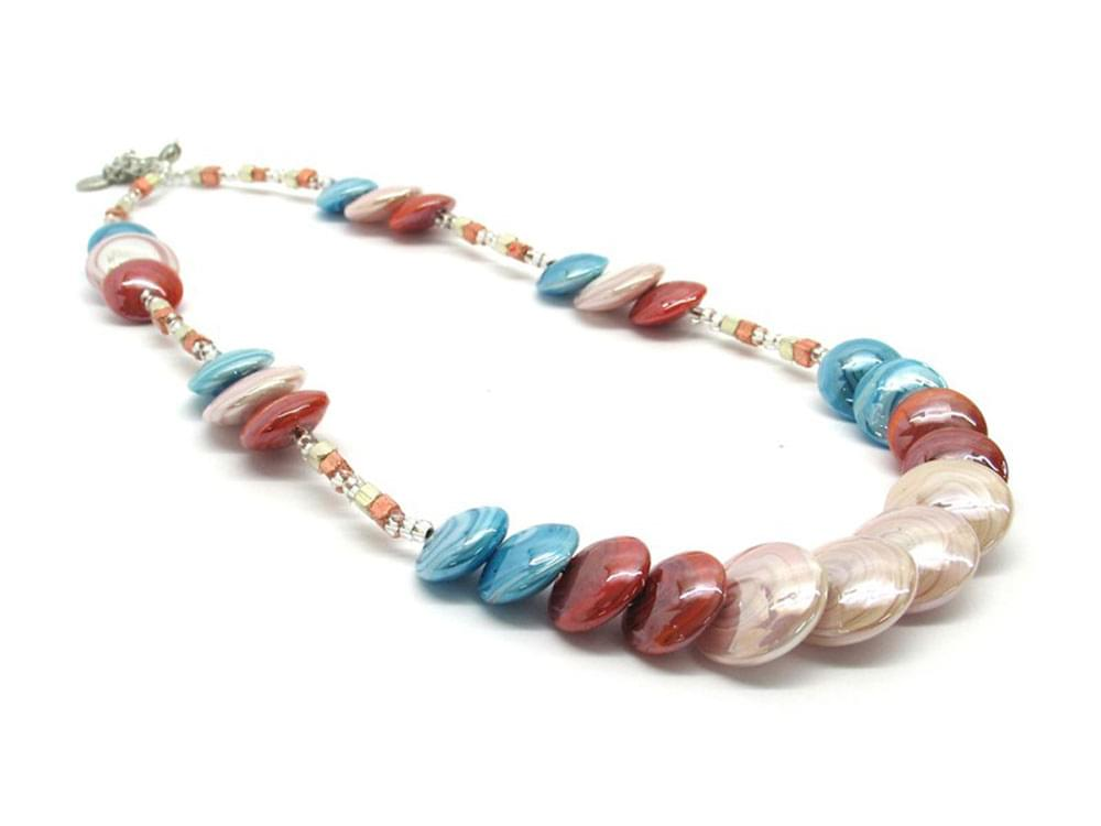 Beautiful Murano Glass necklace - perfect for the summer
