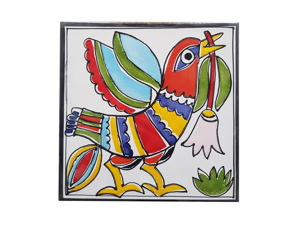 Ceramic animal tiles, picture tiles animals, hand painted animal ceramics