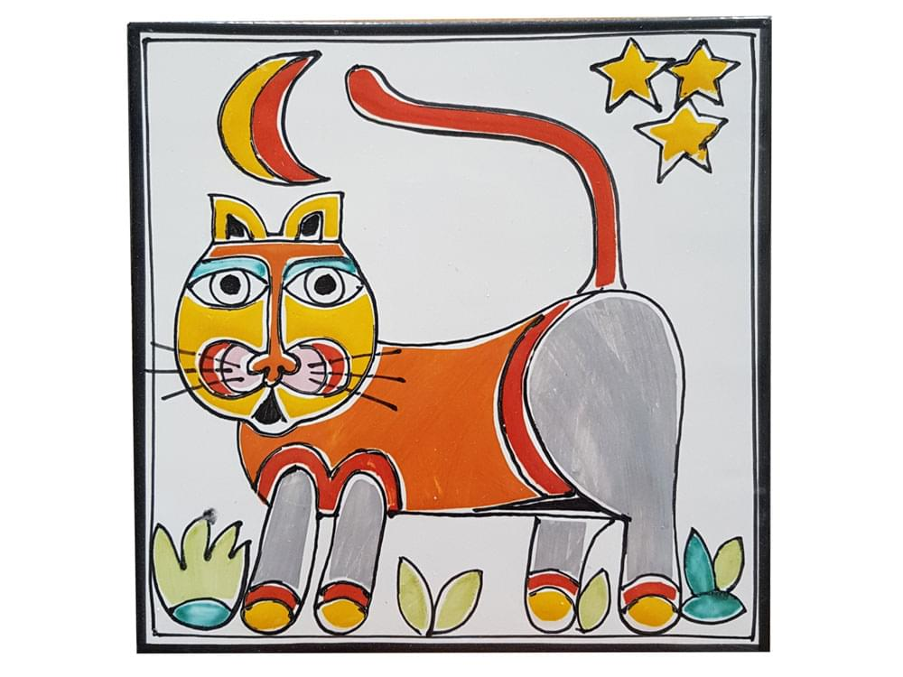 Pottery animal tiles from Sicily