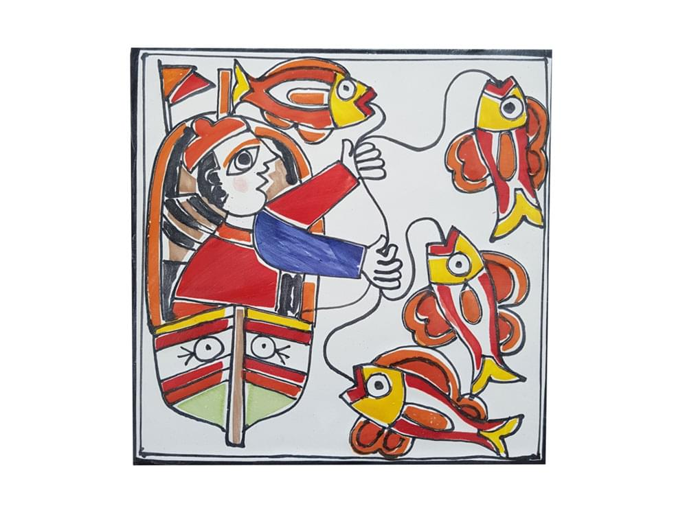 Ceramic picture tiles, painted picture ceramics, decorated picture tiles