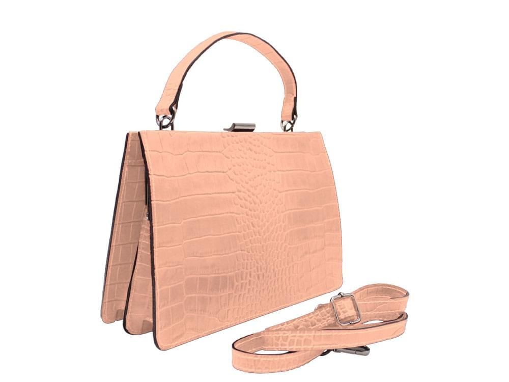 Etna - high quality Coconut effect leather handbag with shoulder strap