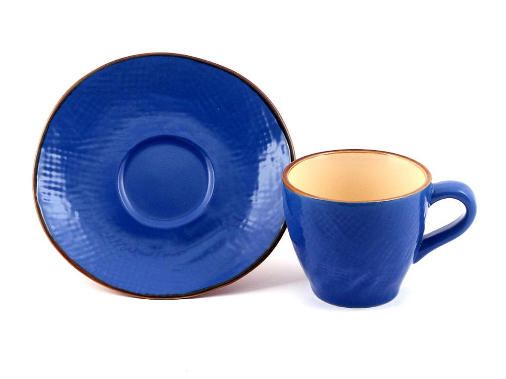Shades of Tuscany - coffee cup and saucer - midnight