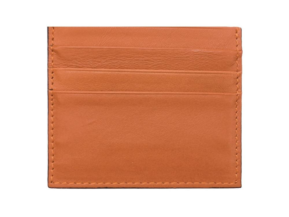Leather card holder - back view