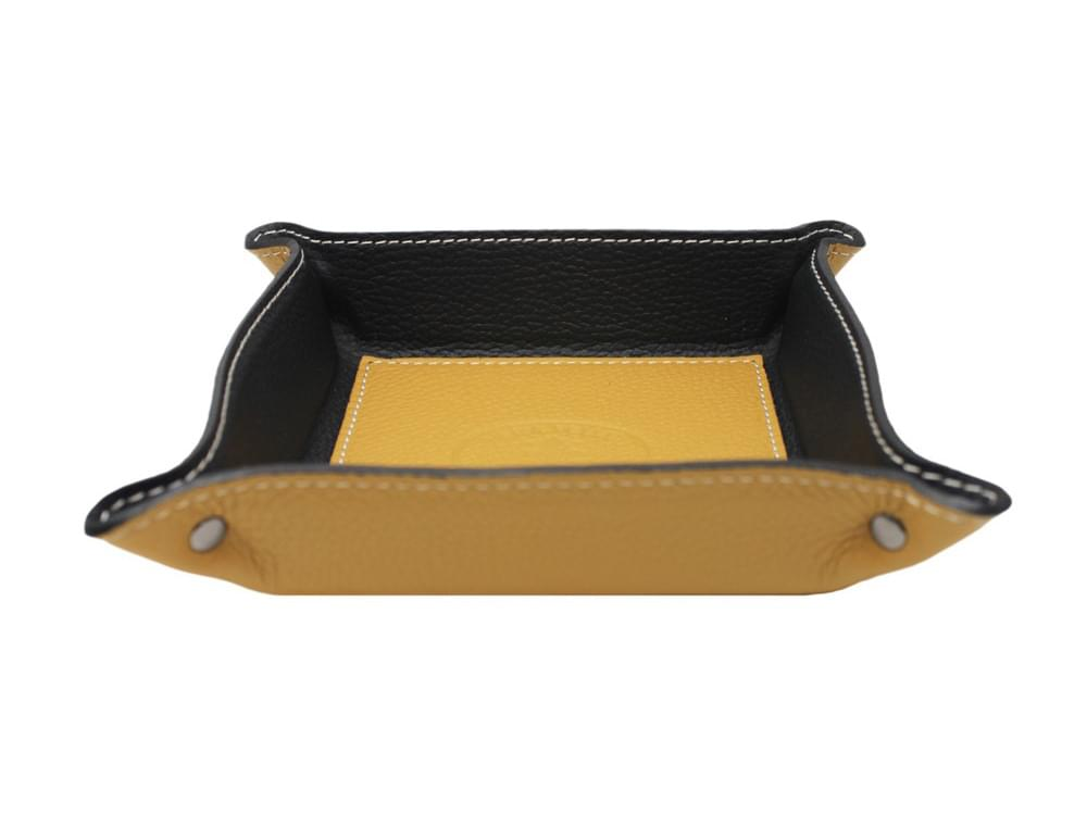 Square desk tray - leather tray for small objects