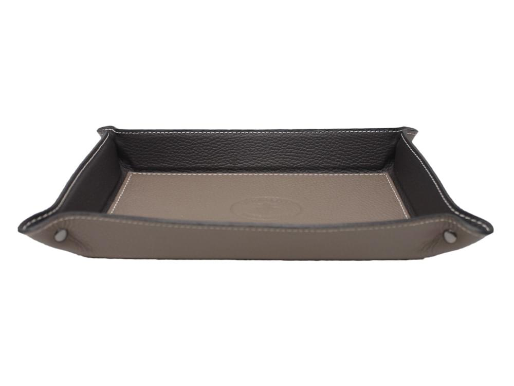 Large rectangular desk tray - leather tray to keep your desk tidy