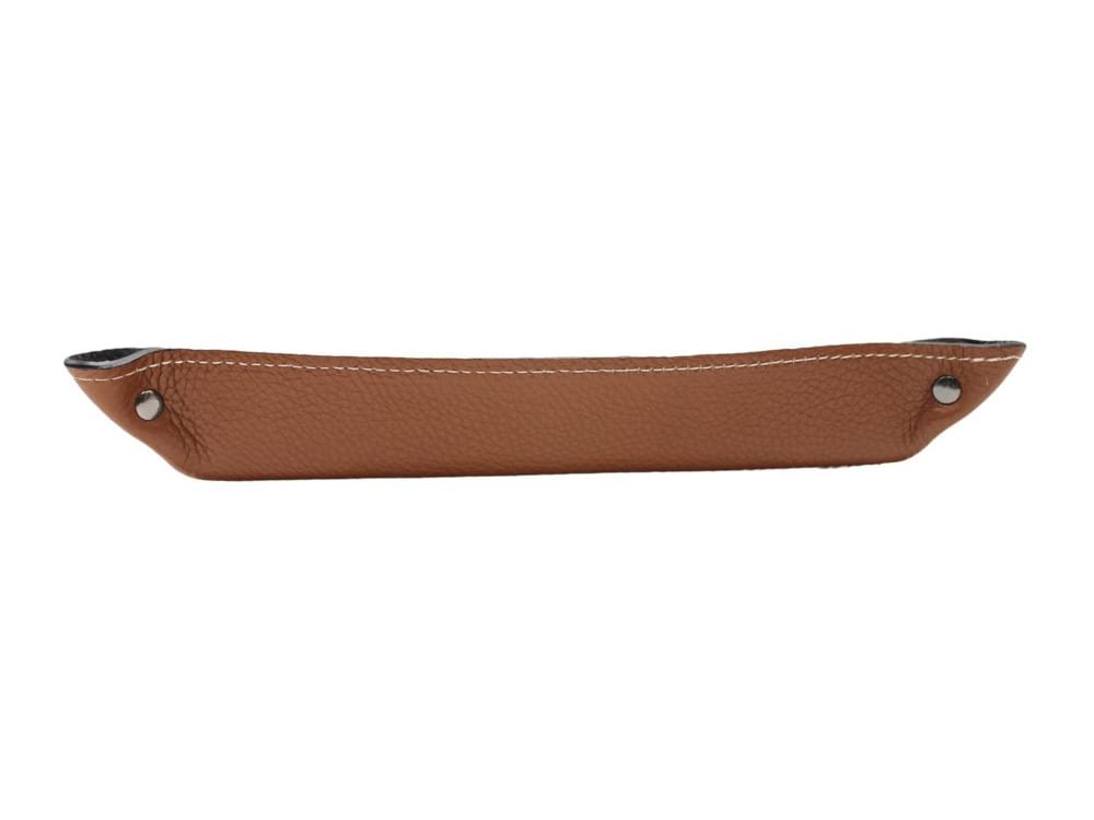 Large rectangular desk tray - leather tray to keep your desk tidy - long side