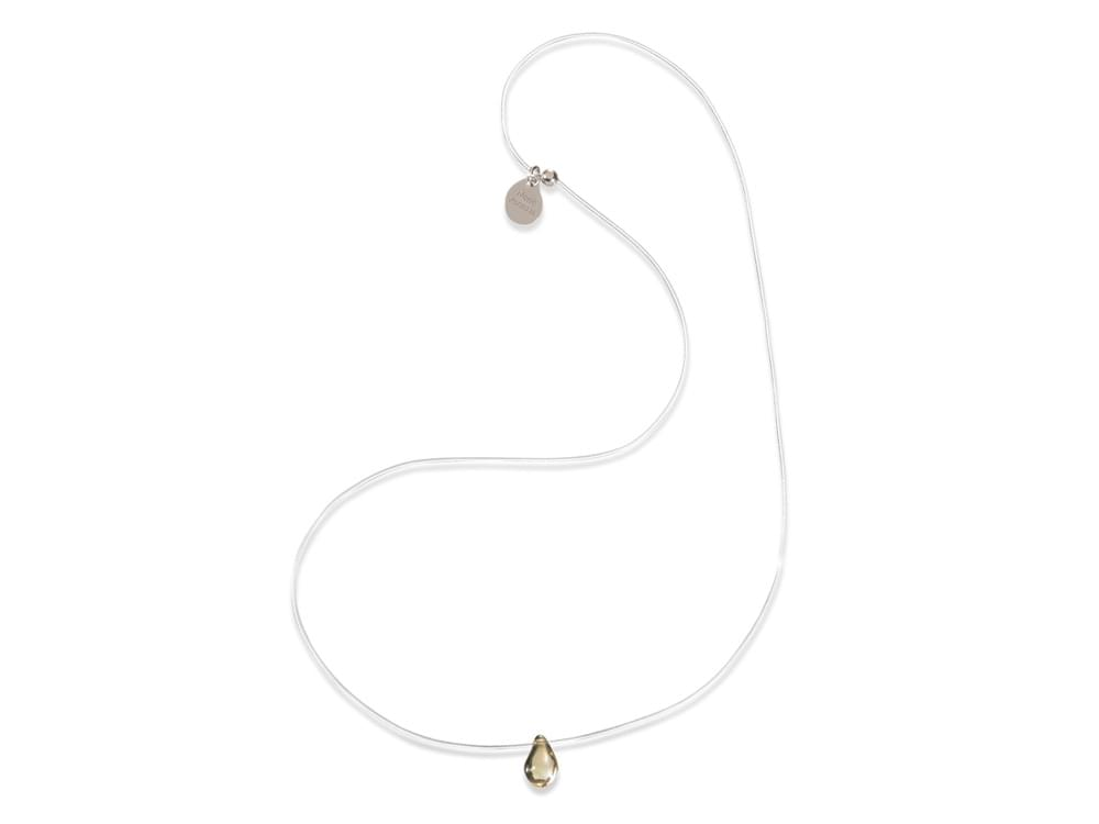 Drop - pure simplicity, transparent wire and tiny glass drop