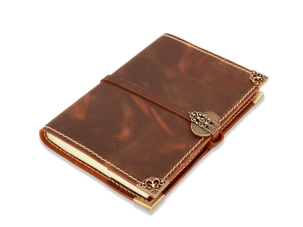 Leather journals from Italy