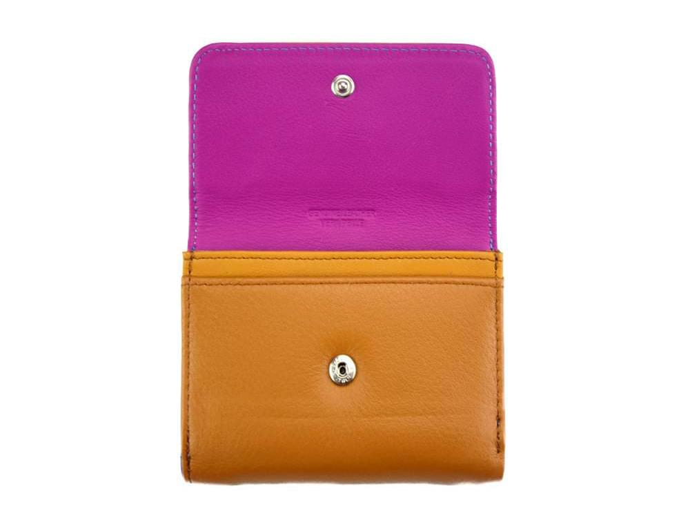 Sofia - colourful, optimal small wallet - opening to coin pocket