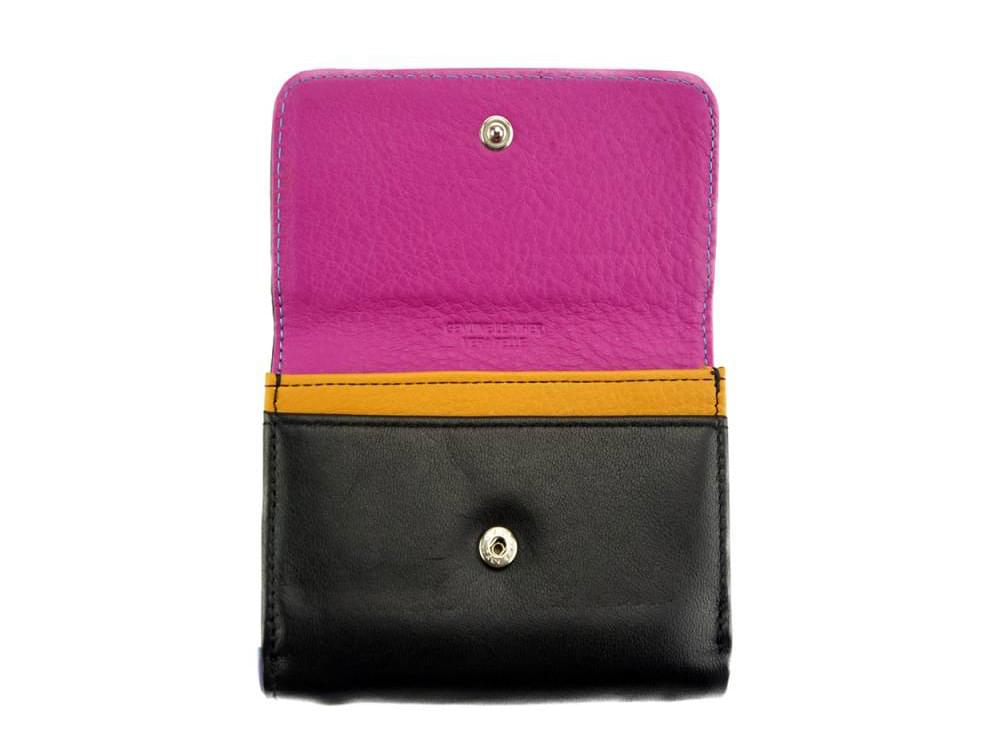 Sofia - colourful, optimal small wallet - opening up to coin pocket