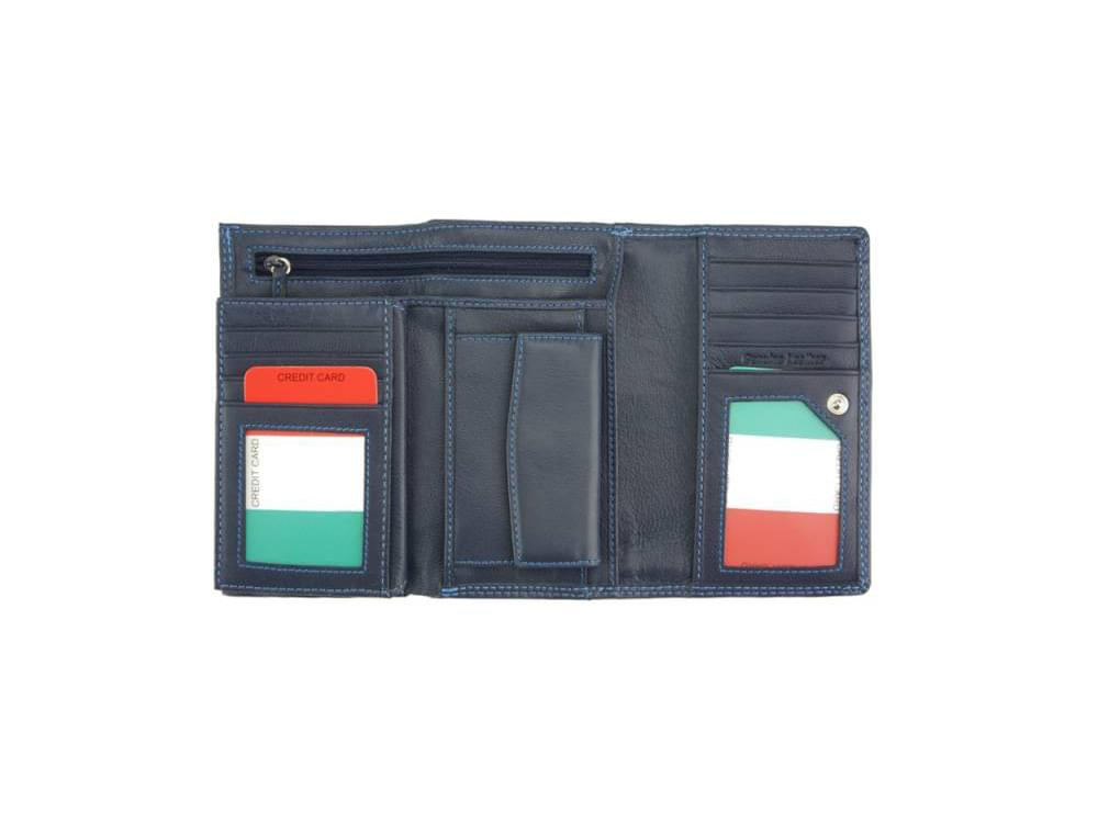 Filomena - refined and sophisticated luxurious leather wallet - opened out