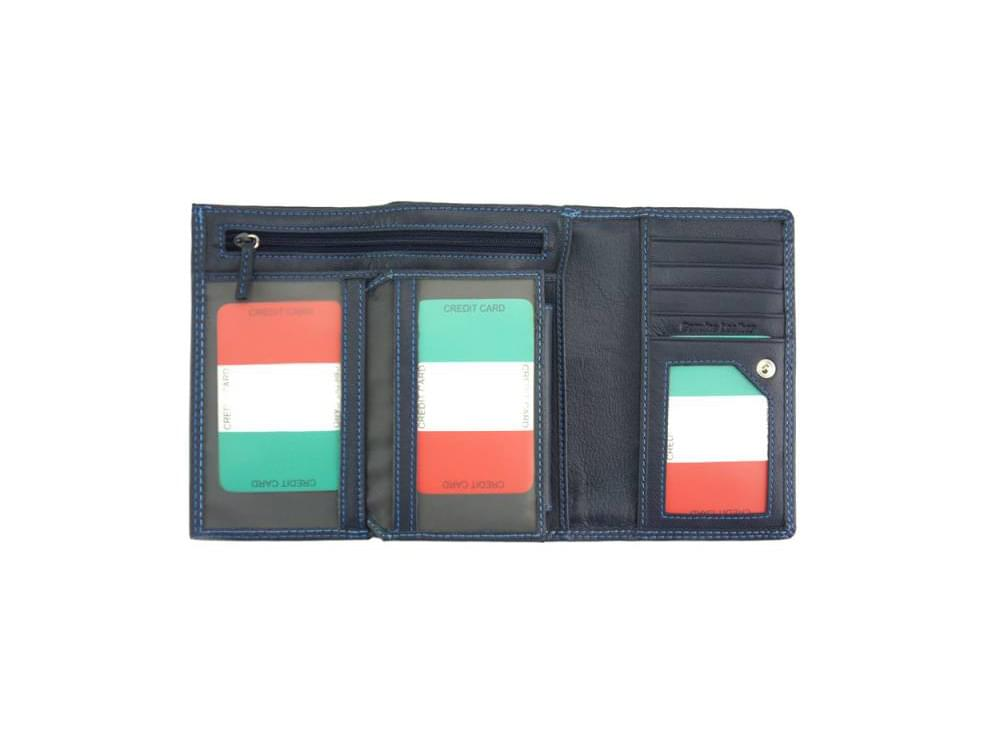 Filomena - refined and sophisticated luxurious leather wallet - showing all card slots