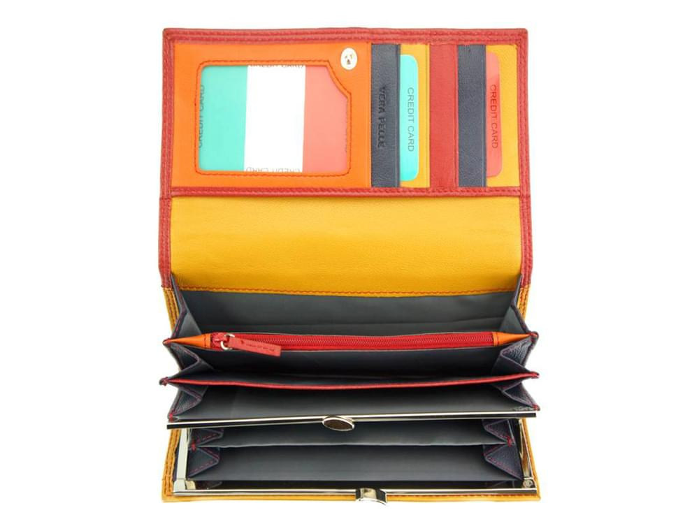 Allegra - colourful, elegant and functional wallet - showing the coin pocket