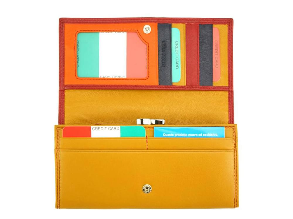 Allegra - colourful, elegant and functional wallet - opened out