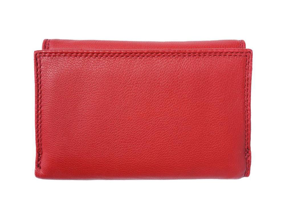 Cinzia - small, neat, spacious leather wallet - back view