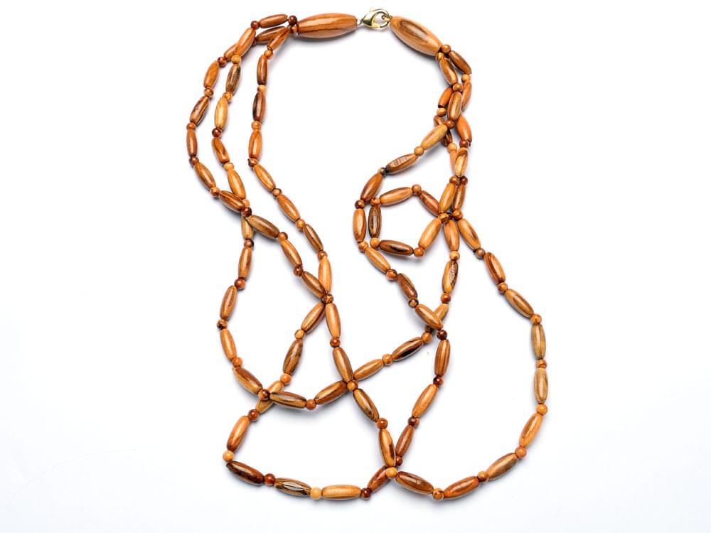 Oval bead 3 strand necklace - view 2