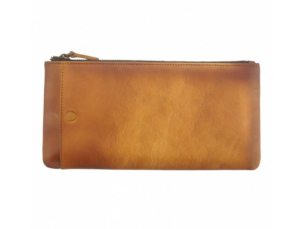 Alberto - vintage leather - phone case and wallet - front view
