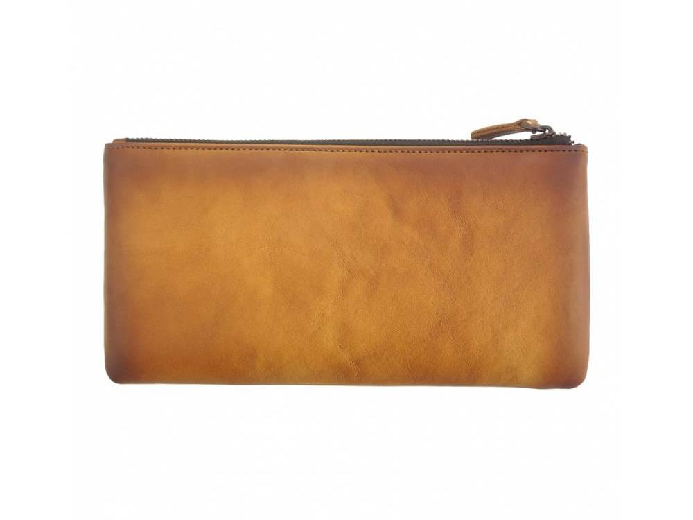 Alberto - vintage leather - phone case and wallet - back view