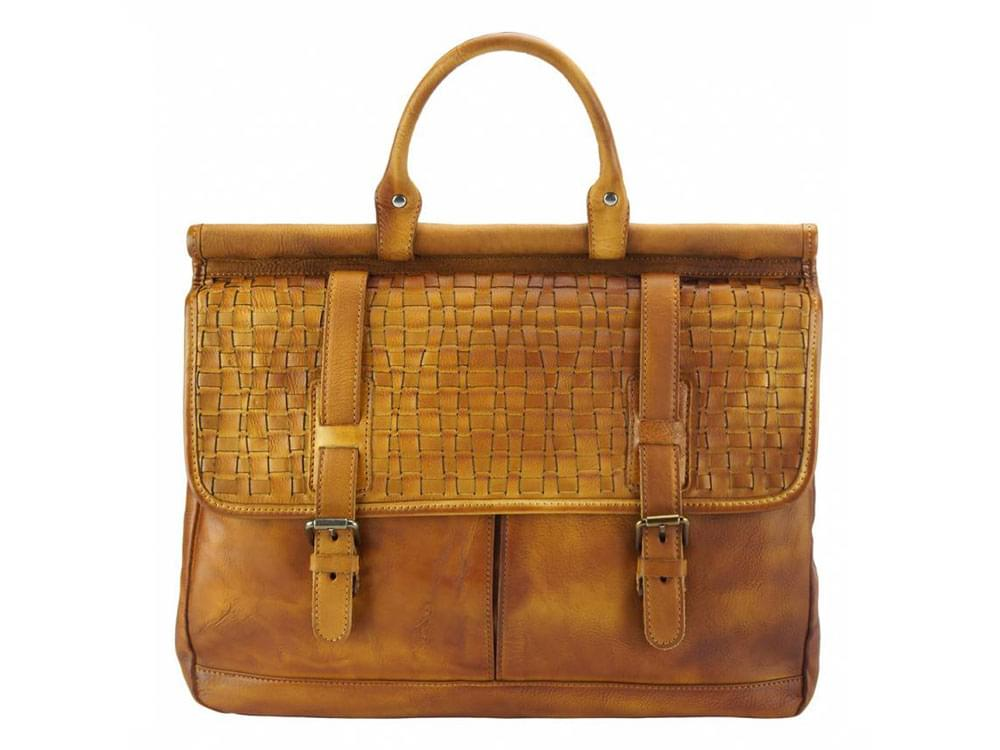 legant, feminine, vintage leather bag - front view