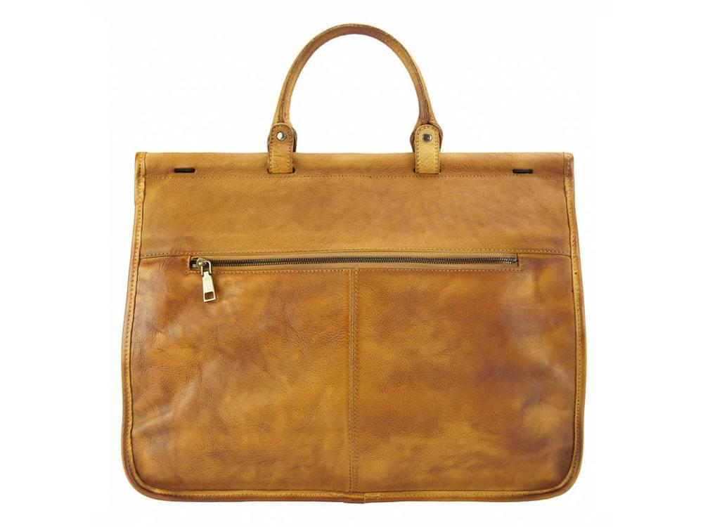 legant, feminine, vintage leather bag - back view