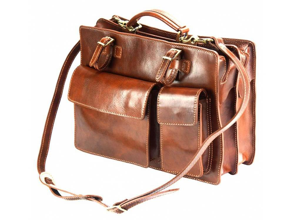 Viterbo - practical and durable briefcase - with the detachable shoulder strap