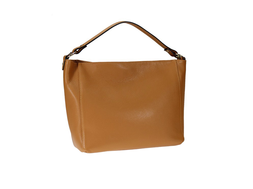 Catanzaro - Simple shoulder bag in high quality Italian leather
