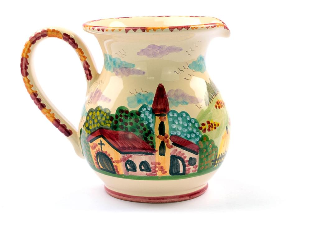 Rustic Scene, medium wine jug view 2