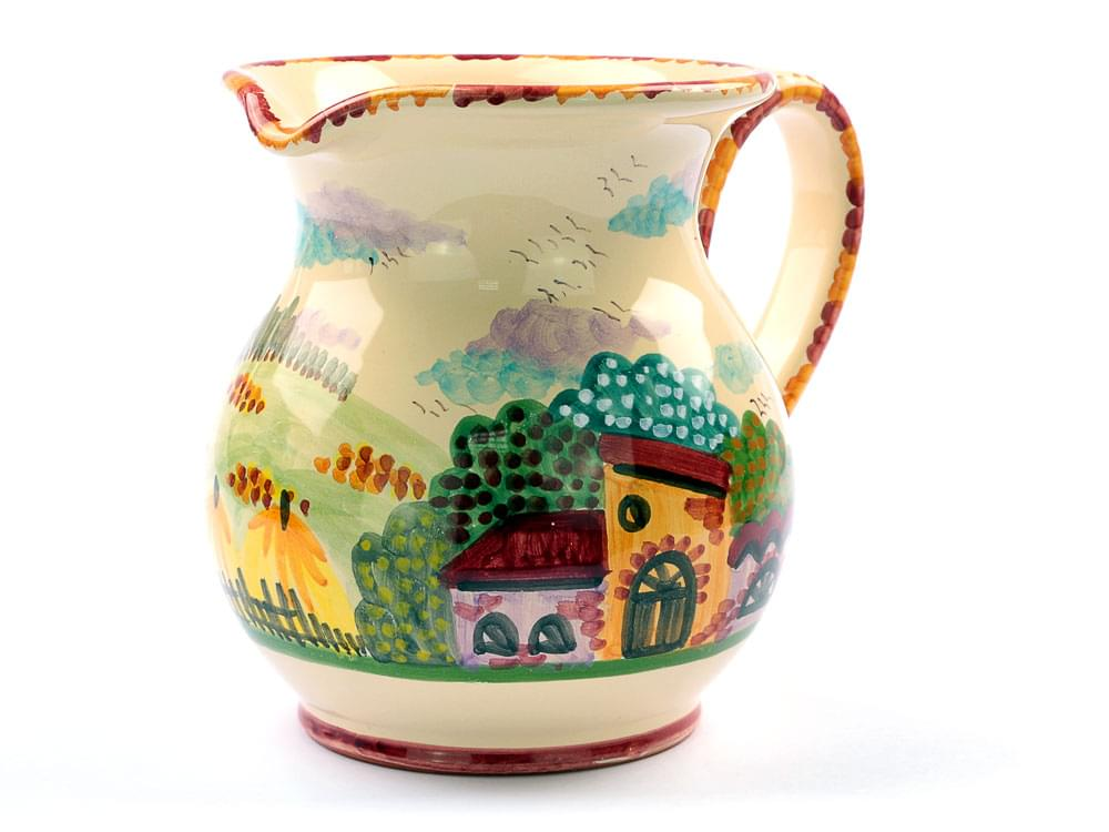 Rustic Scene, medium wine jug view 3