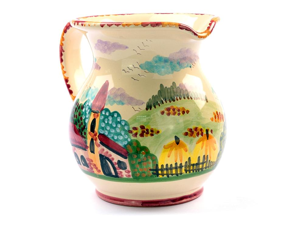 Rustic Scene, medium wine jug view 4