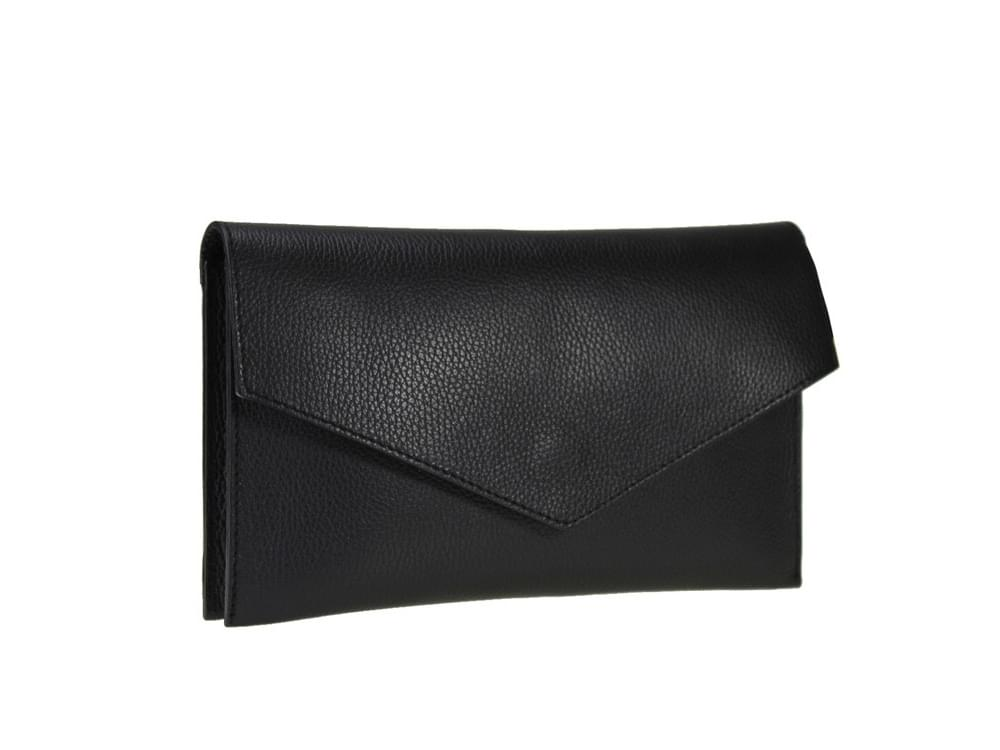 Biella - Italian leather clutch or shoulder bag  - front view